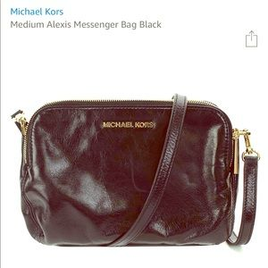 Michael Kors Alexis Messenger Bag - Black Leather